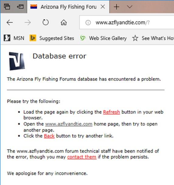 AZflyandtie_Homepage_error